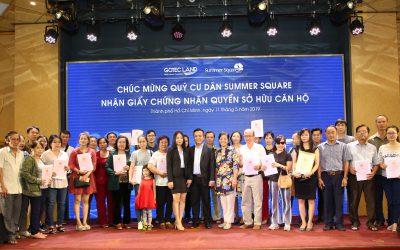 Gotec Land trao Giấy chứng nhận quyền sở hữu căn hộ cho Summer Square đợt 2
