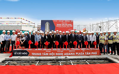 Gotec Land cất nóc dự án Trung tâm hội nghị Asiana Plaza Tân Phú