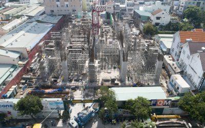 Tiến độ thi công dự án khu căn hộ cao cấp Asiana Capella tháng 10/2019